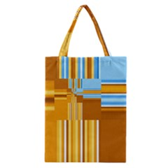 Endless Window Blue Gold Classic Tote Bag by designworld65