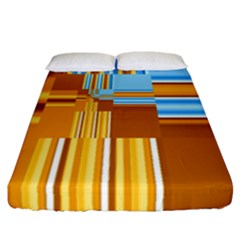Endless Window Blue Gold Fitted Sheet (california King Size) by designworld65