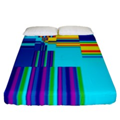 Colorful Endless Window Fitted Sheet (queen Size) by designworld65