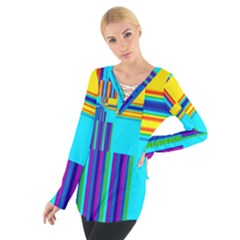 Colorful Endless Window Tie Up Tee by designworld65