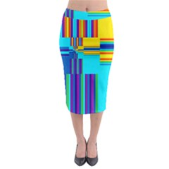 Colorful Endless Window Midi Pencil Skirt by designworld65