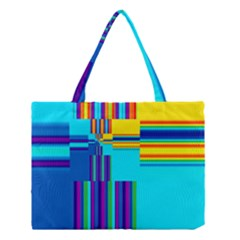 Colorful Endless Window Medium Tote Bag by designworld65