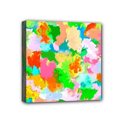Colorful Summer Splash Mini Canvas 4  X 4  by designworld65