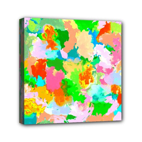 Colorful Summer Splash Mini Canvas 6  X 6  by designworld65