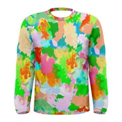 Colorful Summer Splash Men s Long Sleeve Tee by designworld65