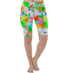 Colorful Summer Splash Cropped Leggings  by designworld65
