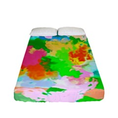 Colorful Summer Splash Fitted Sheet (full/ Double Size) by designworld65