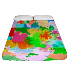 Colorful Summer Splash Fitted Sheet (queen Size) by designworld65