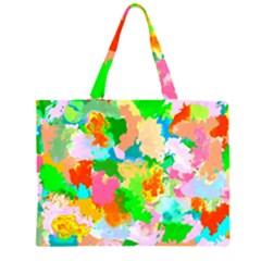 Colorful Summer Splash Zipper Large Tote Bag by designworld65
