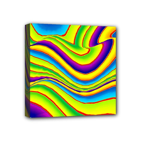 Summer Wave Colors Mini Canvas 4  X 4  by designworld65