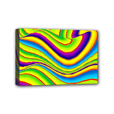 Summer Wave Colors Mini Canvas 6  X 4  by designworld65