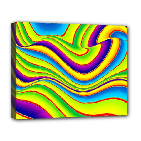Summer Wave Colors Deluxe Canvas 20  X 16   by designworld65