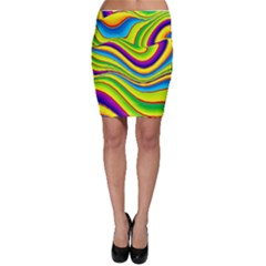 Summer Wave Colors Bodycon Skirt by designworld65