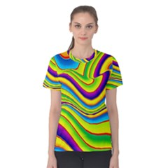 Summer Wave Colors Women s Cotton Tee by designworld65