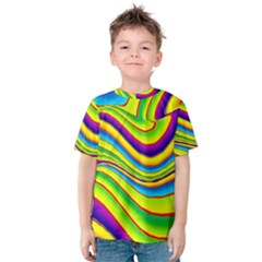 Summer Wave Colors Kids  Cotton Tee by designworld65