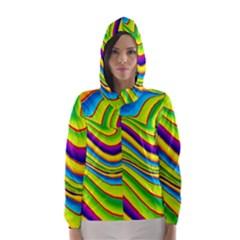 Summer Wave Colors Hooded Wind Breaker (women) by designworld65