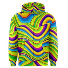 Summer Wave Colors Men s Zipper Hoodie by designworld65