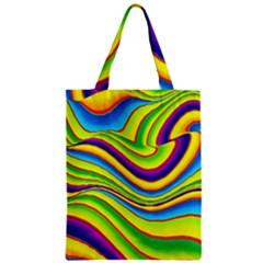 Summer Wave Colors Zipper Classic Tote Bag by designworld65