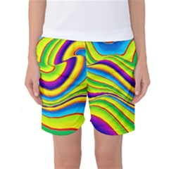 Summer Wave Colors Women s Basketball Shorts by designworld65