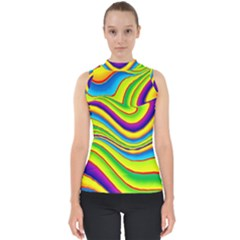 Summer Wave Colors Shell Top by designworld65