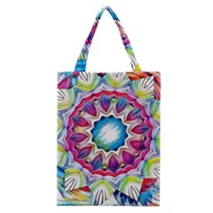 Sunshine Feeling Mandala Classic Tote Bag by designworld65