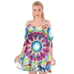 Sunshine Feeling Mandala Cutout Spaghetti Strap Chiffon Dress by designworld65