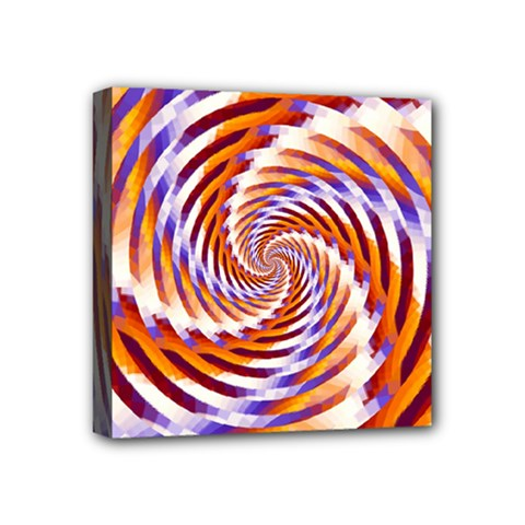 Woven Colorful Waves Mini Canvas 4  X 4  by designworld65