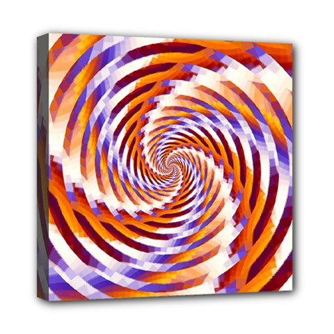 Woven Colorful Waves Mini Canvas 8  X 8  by designworld65