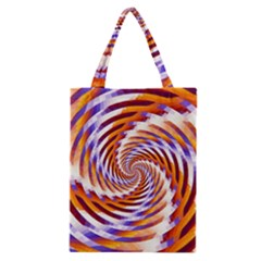 Woven Colorful Waves Classic Tote Bag by designworld65