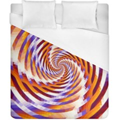 Woven Colorful Waves Duvet Cover (california King Size) by designworld65