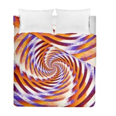 Woven Colorful Waves Duvet Cover Double Side (full/ Double Size) by designworld65