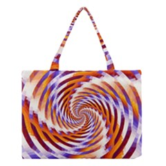 Woven Colorful Waves Medium Tote Bag by designworld65