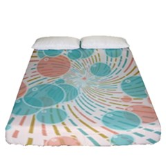 Bubbles Fitted Sheet (queen Size) by linceazul