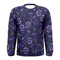 Floral Men s Long Sleeve Tee by BubbSnugg