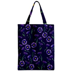 Floral Zipper Classic Tote Bag