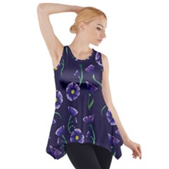 Floral Side Drop Tank Tunic