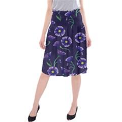 Floral Midi Beach Skirt by BubbSnugg
