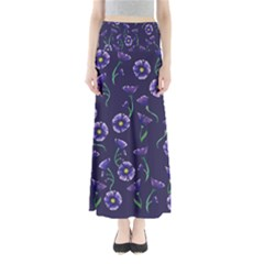 Floral Full Length Maxi Skirt by BubbSnugg