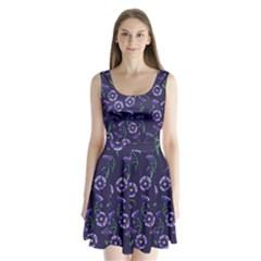Floral Split Back Mini Dress