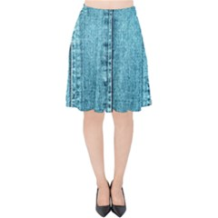 Denim Jeans Fabric Texture Velvet High Waist Skirt
