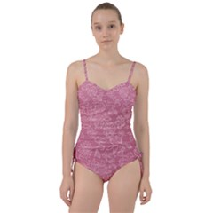 Floral Rose Flower Embroidery Pattern Sweetheart Tankini Set