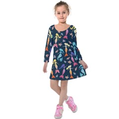 Mermaids Kids  Long Sleeve Velvet Dress by BubbSnugg