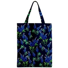 Bluebonnets Zipper Classic Tote Bag by BubbSnugg