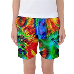 Flowers With Color Kick 2 Women s Basketball Shorts by MoreColorsinLife