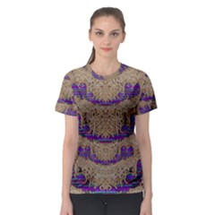 Pearl Lace And Smiles In Peacock Style Women s Sport Mesh Tee by pepitasart