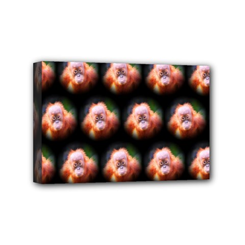 Cute Animal Drops  Baby Orang Mini Canvas 6  X 4  by MoreColorsinLife