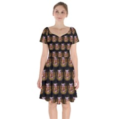 Cute Animal Drops   Piglet Short Sleeve Bardot Dress