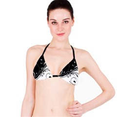Patterns Lines Light Dark Bikini Top