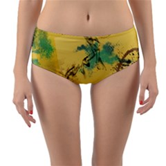 Strokes Paint Different Colors Circle Square  Reversible Mid Waist Bikini Bottoms by amphoto