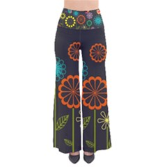 Colorful Vector Flowers Birds  Pants by amphoto